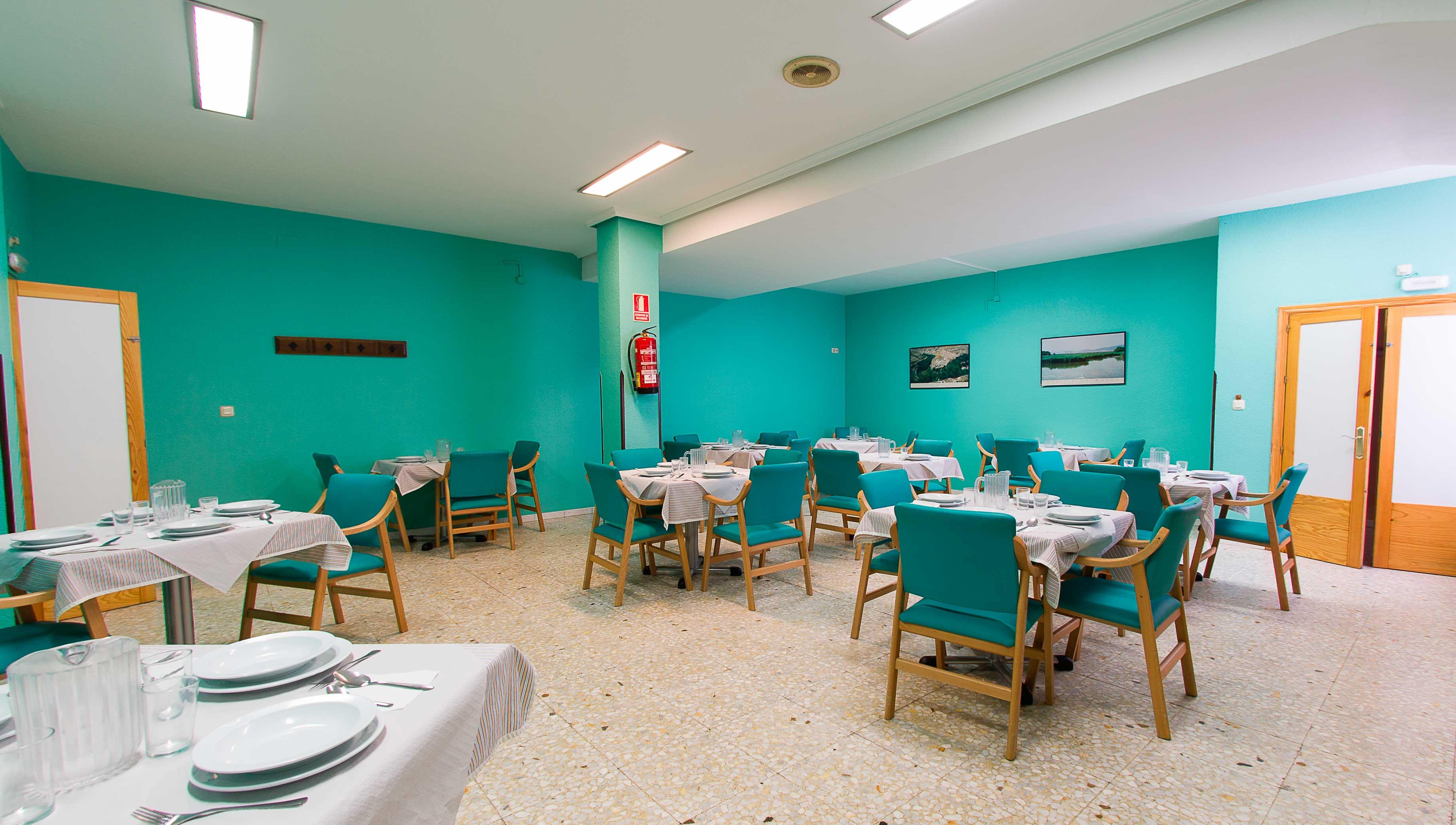 comedor de nuestra residencia para nuestro alojados en la comunidad de Castilla-La Mancha