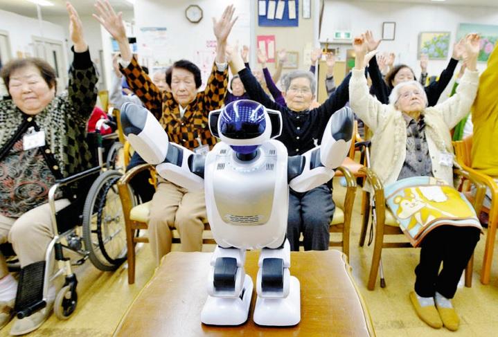 El cuidado de ancianos y los robots
