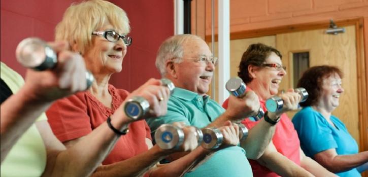 deportes para ancianos brazos