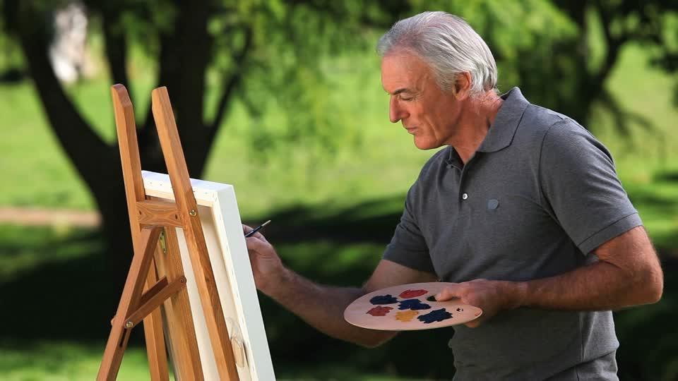 manualidades para ancianos pintura