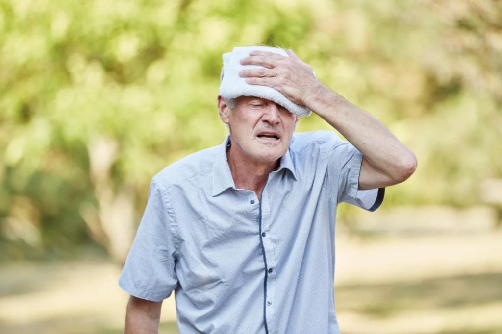 Golpe de calor sol persona mayor