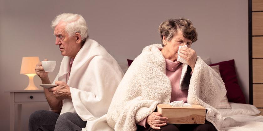 cómo evitar resfriados en las personas mayores