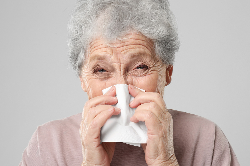Evitar resfriados en personas mayores